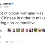 Hillary: Trump said global warming is a hoax perpetrated by China. Trump: I never said that! Is that so...? https://t.co/YINYBRBSC2
