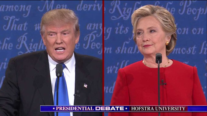 Trump: 'I will release my tax returns... when she releases her 33,000 emails that have been deleted.' #debatenight… https://t.co/EVnFwu99IR