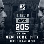 Its on!! Conor McGregor faces Eddie Alvarez at #UFC205 in NYC!! https://t.co/mg2fAMuoi7