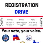There is NO excuse. #UNT has provided you with multiple ways to register to vote. Tomorrow is national Voter Registration day!! #BeTheVoice https://t.co/6JGiEyxsPH