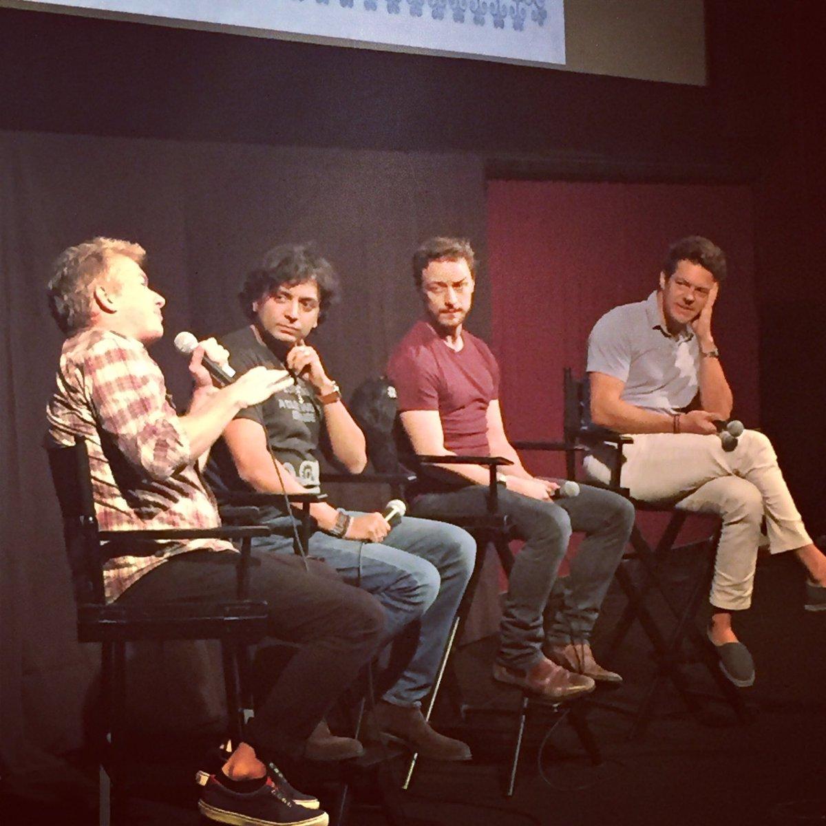 Tim League, M. Night Shyamalan, James McAvoy and Jason Blum: tonight's #FantasticFest secret screening was SPLIT. https://t.co/ikFfsIA4ik