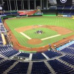 Marlins Park nearly empty, Jose Fernandezs teammates have returned to the mound. https://t.co/zrJxrrWcmk