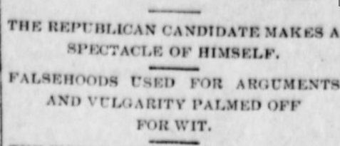 THE REPUBLICAN CANDIDATE MAKES A SPECTACLE OF HIMSELF.  KY1899 https://t.co/CgnI1nZ9di