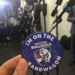 .@westernbulldogs handing out these to the media... https://t.co/xwLtGoNZFU