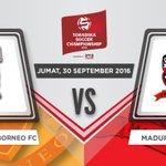 (2) Saksikan pertandingan antara tuan rumah @PusamaniaBorneo VS @MaduraUnitedFC Jumat, 30 September 2016! #TSC2016ID https://t.co/fyvaLX2N2C