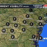 Fog developing this morning. Slow down, use low beams while driving through any fog. #scwx #gawx https://t.co/rdK2LSREe3