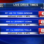 Leave early this morning because rainy conditions are slowing down your drive times @fox25news https://t.co/4aDiVGKSNe