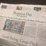Front page todays @nytimes business section on SEC & disclosure of the business risks of #climate change @CeresNews https://t.co/yQOsMQPvMS