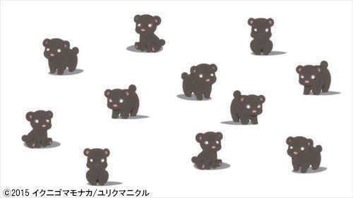 本日より「ユリ熊嵐」がAbemaTVで配信スタート!ガウガウ☆  #yurikuma #AbemaTV