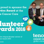 #charitytuesday Thank you to #SearsSeating for sponsoring our Supportive Award at the @tenovuscancer Volunteer Awards 2016. https://t.co/VrqNCgE791
