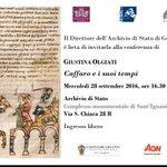 #medioevo #conferenza #ingressolibero Caffaro e i suoi tempi mercoledì 28 settembre alle 16.30 https://t.co/9gqrCp4cJ0