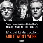 Pauline Hanson has joined the coalition to attack young job seekers #auspol #wapol https://t.co/aqyo6fYKd3