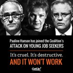 These 3 are on six figures paid for by you, but object to people most in need receiving $257 a week #auspol https://t.co/C849zSeyBm