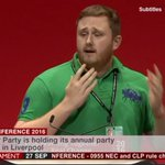 "Lee Brennan gets a cheer for having a go at ""stitch up"" over Labour rule changes. #Lab16 https://t.co/nYqVvIv8ox"