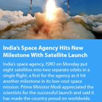 India's Space Agency Hits New Milestone With Satellite Launch https://t.co/HWBSfLZKPG  via NMApp https://t.co/IV160xX3ej