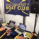All set up and ready! Come and see us today at the freshers fair in the Marquee! 🚣 https://t.co/iOt00rK6Fc