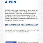 De Roos & Pen heeft een vacature voor een (gevorderd) advocaat-stagiair met (ruime) ervaring in het strafrecht. https://t.co/UgPISff9Sb