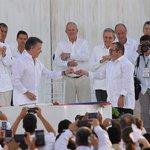 """La paz germina ya"". Firma del Acuerdo de Paz en Cartagena https://t.co/haJ0uHwTml https://t.co/elIQNLNOmo"