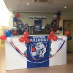 Little Champs Childcare, Braybook supporting @westernbulldogs #paintthetown #bemorebulldog #AFLGF https://t.co/QRCQeokSmM