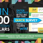 5mins could win you $100 @Downtown_London Dollars! Fill out the #DundasStFest Survey https://t.co/WI43pENw2z #LdnOnt https://t.co/NtS4J6LJsU