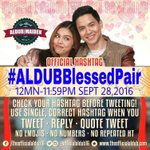 Your hearts are the kindest thats why you are blessed with so much. @aldenrichards02 @mainedcm #ALDUBBlessedPair https://t.co/J3EMVu9EEy