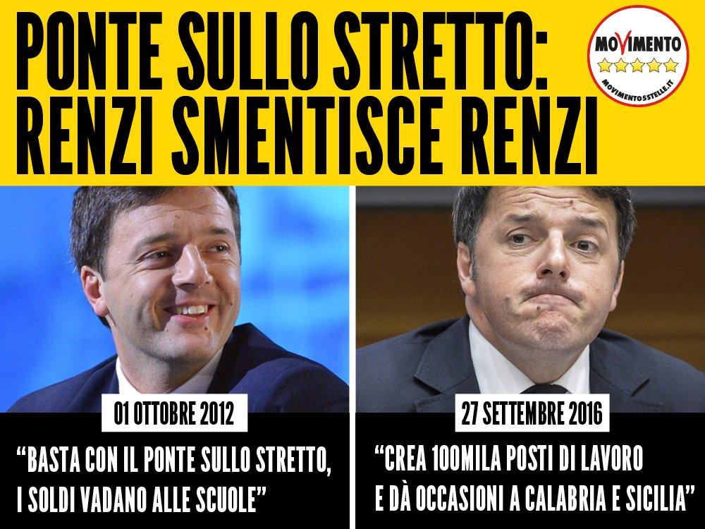 """Renzi 2012: """"Gli 8 miliardi del #pontesullostretto li dessero alle scuole"""" La sua parola vale 0 Il 4/12 si avvicina https://t.co/oK127eSFUl"""