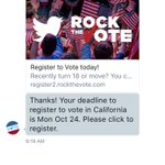 This is dope. You can DM @gov to get your voter registration information. Nice work @twitter!! https://t.co/Umw2zUCixq
