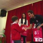 🎥 @RamadanSobhi goes back to school with the @StokeCity_CT to hand #City7s memberships to Year 2 students at Market Drayton Infant School. https://t.co/ZNYpKJoe0H