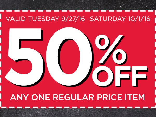 RT @officialacmoore: Take 50% off something you 💗 at #ACMoore! Here's the #coupon: https://t.co/JKFnLZhjYx https://t.co/0QJ4XJx354