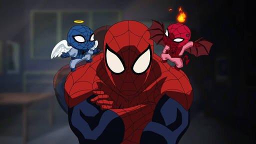 録画してたの今見終わった!アルティメットスパイダーマン最終回😭シーズン1から欠かさず見てきたから悲しすぎる😢どのキャラも