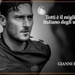 Gianni #Rivera, uno dei grandi numeri 10 del calcio italiano, celebra Francesco #Totti   #Totti40 https://t.co/U1vaKCfenn