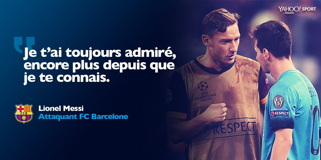 Lionel Messi A Souhaite Un Joyeux Anniversaire A Francesco Totti