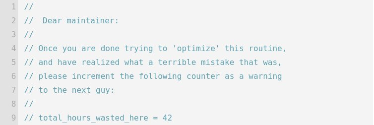 My favorite source code comment of all time