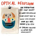 #London @Dodeshillinglaw Optical Delusion opens tonight for one night only @jealous_gallery #Exhibition #Print https://t.co/fFcpVDfa1Y