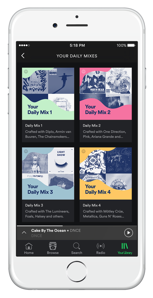 So excited to launch Daily Mix today! The music you love, minus the effort. Coming to mobile Spotify over next 24hr https://t.co/QnLeMGSJFQ