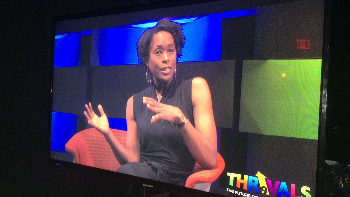 """At #Thrivals9 @margotshetterly and @JanelleMonae discuss """"Hidden Figures,"""" history of women in mathematics. #IF16 https://t.co/UrOWgiToy4"""