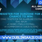 Another chance to win tickets (and goodies) for Saturdays big game! Simply sign-up to Dubzone to enter! #DUBvMAYO #COYBIB https://t.co/fj7wytU5qd