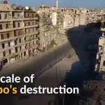 VIDEO: Drone footage shows the scale of destruction caused by air strikes in Aleppo, #Syria. - @Reuters https://t.co/zOcAdfbMEQ