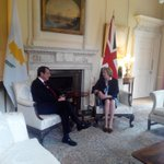 Mtg of President @AnastasiadesCY and PM @theresa_may, #Bilateral, #CyprusProblem, #Brexit, @UKinCyprus, @eevriviades https://t.co/nmpltQR0TI