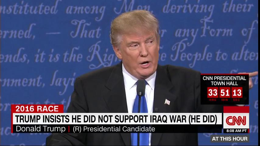 Trump insisted he did not support the Iraq War (he did)