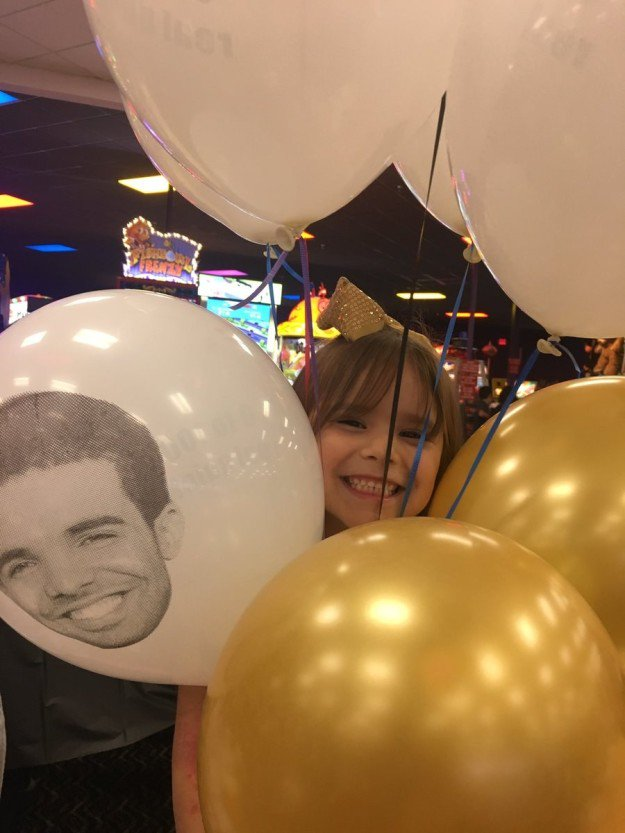 This 6-year-old girl had an insane Drake-themed birthday and people are jealous