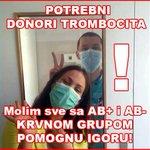 Da li ima neko AB krvnu grupu u Beogradu? https://t.co/WkkSpm7L4n