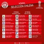 Nómina de extranjeros para los partidos de #Chile, que jugará frente a #Ecuador y #Perú en octubre próximo. https://t.co/JU0d2iRjKb