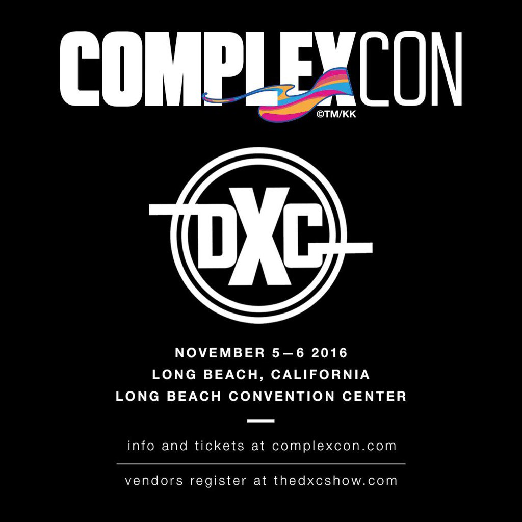 Attention all sneaker vendors & clothing brands we are curating a section at @ComplexCon https://t.co/wT8uYf0dGt https://t.co/GTYRaWi97n
