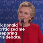 """Donald just criticized me for preparing for this debate. And you know what else I prepared for?  I prepared to be president."" —Hillary https://t.co/UghldHEsO4"