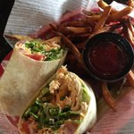 Gobbling down a Buffalo chicken wrap for lunch at @westvillepub #avleat  @AskAsheville https://t.co/3f22uU8IAE