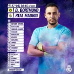 ⚽️📝✅ #RMUCL Heres our starting XI for tonights Champions League match against @BVB! VAMOS!  #HalaMadrid https://t.co/PPSFzw9JIg