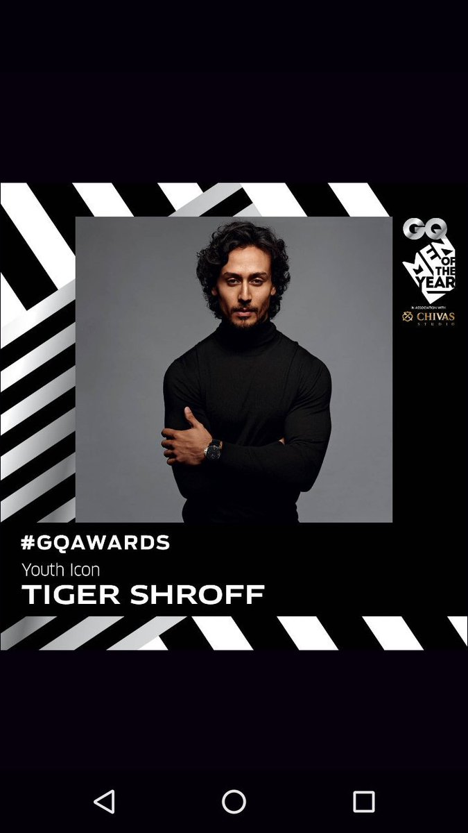 The 2016 #GQAwards #YouthIcon is     @iTIGERSHROFF https://t.co/tZ6GkPcQvK