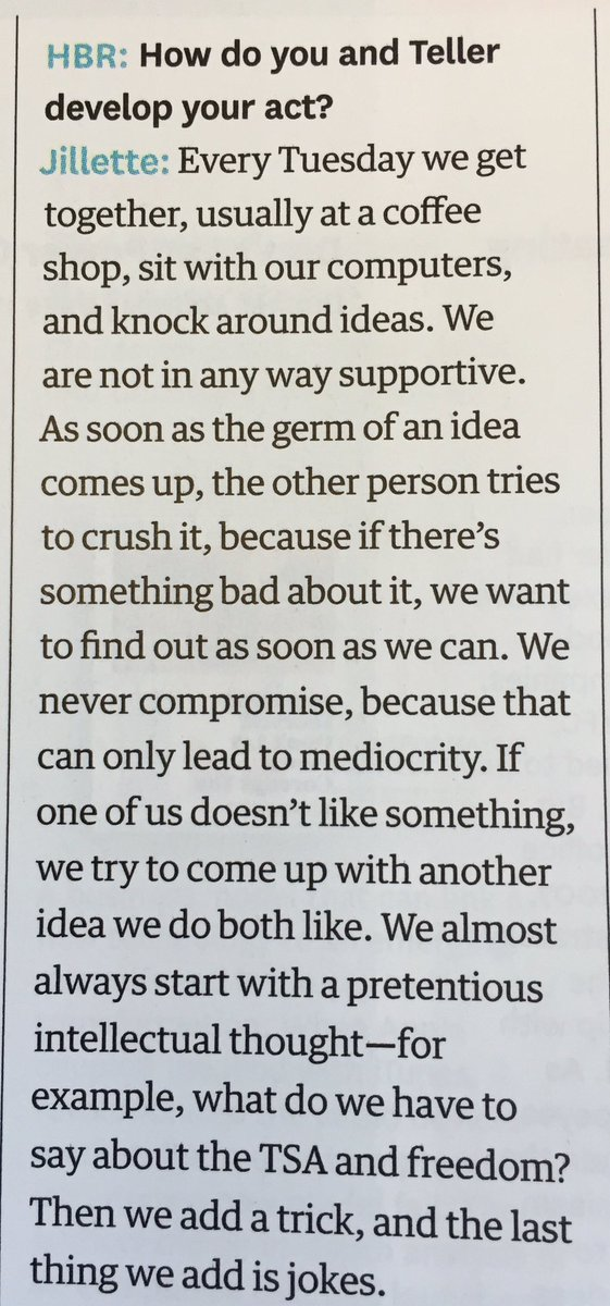 @pennjillette great interview in HBR and a great lesson for all innovators. Keep up the great work!!! https://t.co/iP4K6CcugB