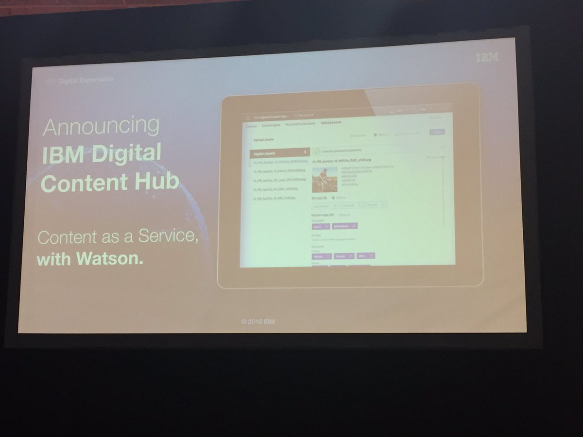 Love this! The launch of @IBM digital content hub is going to be HUGE! #NewWaytoEngage #shoporg16 https://t.co/rrG1siJi0F